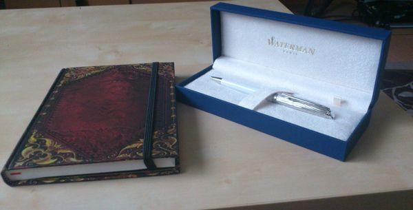 paperblanks(ノート)とWATERMANのボールペンの感想